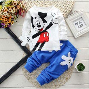 Baby Boys Cartoon Leisure Long Sleeved T-shirts + Pants Newborn Kids Bebes Suits discountshub