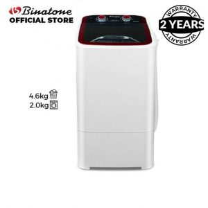 Binatone 4.6Kg Single Tub-In-Tub Washing Machine - Black discountshub