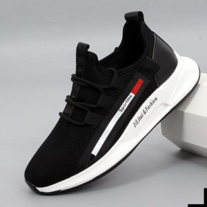 LOW Price CLEARANCE-Breathable Athletic Casual Sport Sneakers - Black discountshub