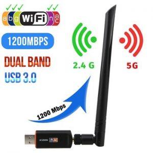 USB 3.0 1200Mbps Wifi Adapter Dual Band 5GHz 2.4Ghz 802.11AC RTL8812BU Wifi Antenna Dongle Network Card For Laptop Desktop discountshub