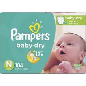 Pampers Newborn Baby Dry Disposable Baby Diapers, Super Pack Of 104 Count discountshub
