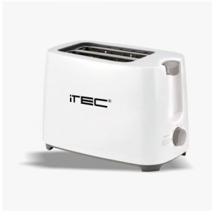 iTec Toaster with removable crumb tray White discountshub