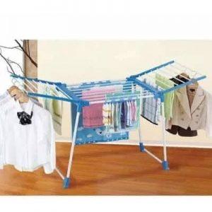 MyBabyStore Foldable Baby Clothes Hanger - Blue discountshub