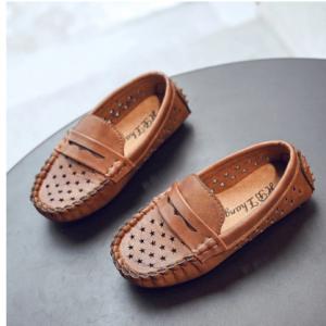 Boys Star Decor Hollow Breathable Comfy Bottom Slip On Lazy Flat Shoes discountshub