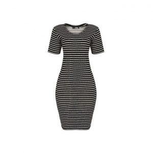 Dmg Denise Bodycon Dress - Black/White discountshub
