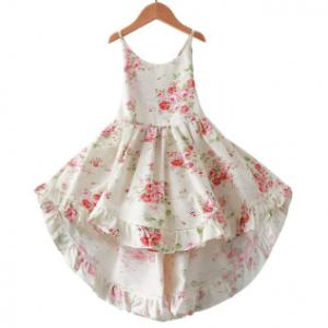 Floral Printed Girls Strap Casual Dress For 1Y-11Y discountshub