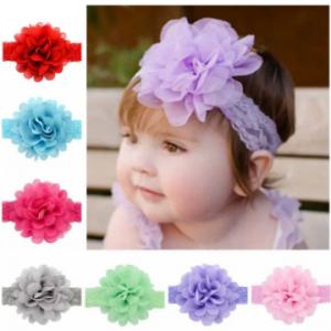 Flower Princess Style Elastic Adjustable Baby Girls Headband For 0Y-5Y discountshub