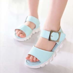Girls Solid Color Soft Bottom Non Slip Comfy Simple Sandals discountshub