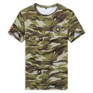 Men Outdoor Sports Run Gym Work Out O-neck Short Sleeve Jersey T Shirt discountshub