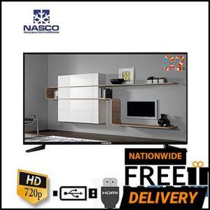 "Nasco 43"" Digital LED Satelite TV With Built In AVR & MPEG4 Decoder +Wall Bracket discountshub"