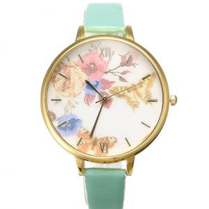Women's Trendy Watch Flower Butterfly Leather Watch discountshub