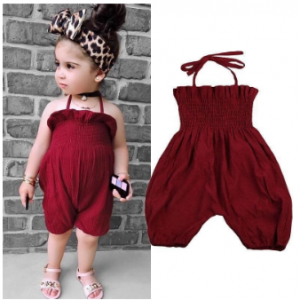 Cute Elastic Baby Girls Overall Infant Girl Clothing One-Piece Playsuit discountshub