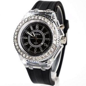 Geneva New LED Backlight Sport Waterproof Quartz Wrist Watch discountshub