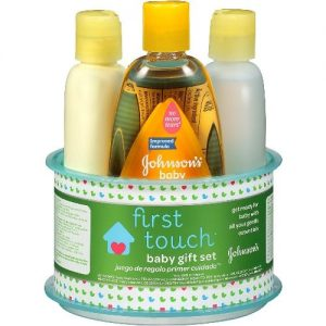Johnson & Johnson First Touch Gift Set Baby Bath And Baby Skin Care Products- 4 Items discountshub