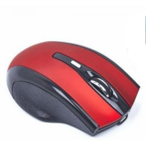 Rechargeable Wireless Mouse 2.4g 2400dpi Gaming Mouse Built-in Battery - Red discountshub