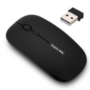 Unique Rechargeable Wireless Mouse - Black
