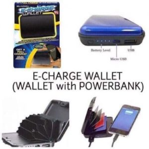 Universal Chef RFID Blocking E-charge Wallet With Power Bank discountshub