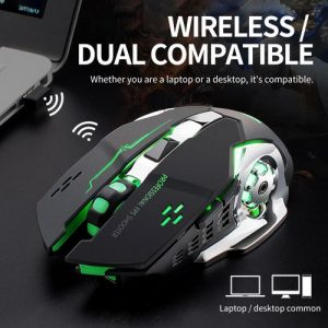 2.4GHz Wireless Charging Game Mouse Luminous Plug And Play discountshub