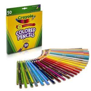 Crayola 50ct Long Colored Pencils discountshub