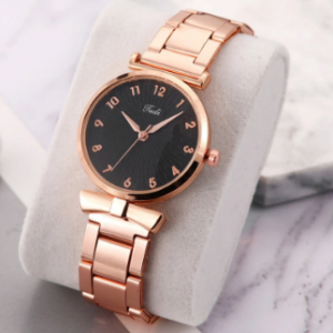 Fashion Casual Women Wristwatch Alloy Wrist Watch Bracelet Waterproof Quartz Watches discountshub