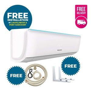 Gree Split Unit Ac-1hp with Standard Installation Kit Bora + Free delivery + Free wall hanger discountshub