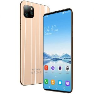 LOGY Ultra HD 4k Smart Mobile Phone 6.1 Inch Full Display 13MP+18MP Andriod 9.1 Smartphone-Gold discountshub