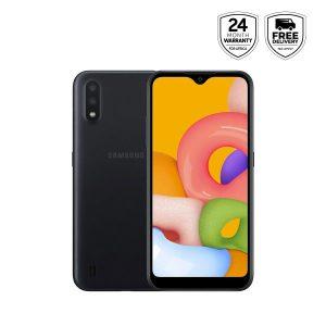 Samsung Galaxy A01 - Black- 16gb Rom +2gb Ram, 13mp, Dual Sim discountshub