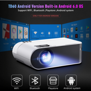ThundeaL TD60 Mini Projector Portable WiFi Android 6.0 Home Cinema for 1080P Video Proyector 2400 Lumens Phone Video 3D Beamer discountshub