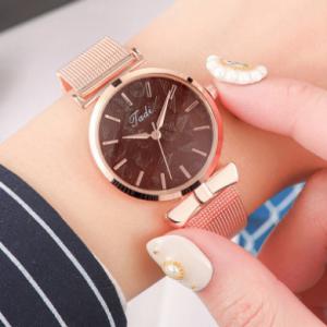 Fashion Elegant Women Watches Rose Gold Alloy Adjustable Band Case No Number Dial Quartz Watch discountshub