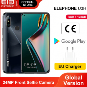 "In Stock ELEPHONE U3H 6GB 128GB Helio P70 Octa Core Smartphone 6.53"" FHD+ Fullview Display 48MP IMX 586 AI Dual Camera Android 9 discountshub"