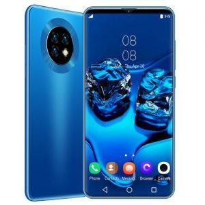 LOGY Ultra HD 4k Smartphone 6.1-inch Full Display 13MP+24MP Andriod 10.0 Smartphone-Blue discountshub