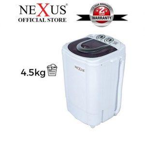 Nexus 4.5kg Single Tub Washing Machine (NX-WM-4SASR) discountshub