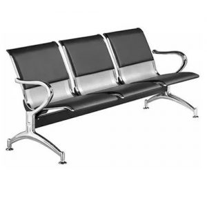 Office/ Airport Waiting Bench - Leather Padded discountshub