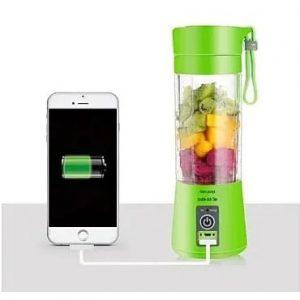 Portable Rechargeable Usb Blender - 2 Blades - Green discountshub
