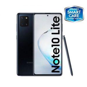 """Samsung Galaxy Note 10 Lite 6.7"""" (6GB, 128GB), (32MP) + (12MP Tripple Rear Camera) Dual SIM 4,500 MAh 4G Smartphone - Aura Black discountshub"""