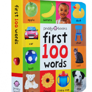 24 Pages/ Books for Kids Early Education First 100 Words In English Hardcover Board Book Children English Picture Books discountshub