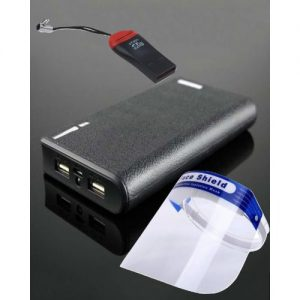 40,000mah Power Bank With A Re-usable Face Shield And Memory Card Reader discountshub