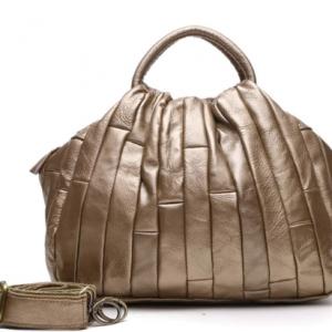 Arliwwi Brand Designer REAL LEATHER Tote Handbag For Women Genuine Cowhide Handmade Patchwork Elegant Cross body Bags Lady GJ01 discountshub