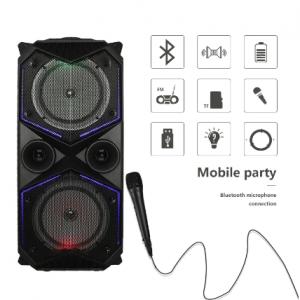 Big Power Bluetooth Speaker Wireless Stereo Subwoofer Heavy Bass Speakers Music Player Support Microphone FM Radio TF FM Radio discountshub