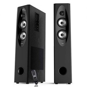 F&D T60X Tower Speaker - Black/Formica discountshub