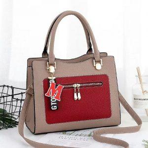Fastshipping Multicolored Handbag Model 1 - Nude/red discountshub