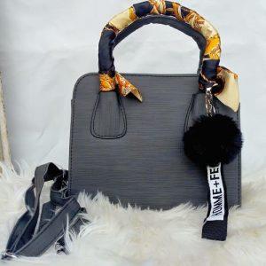 Fastshipping Scarf And Pendant Handbag - Grey discountshub