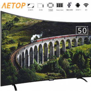 Free shipping-new product 50 inch smart tv led 4k hd television tv curved screen with DVB-S2/T2 discountshub