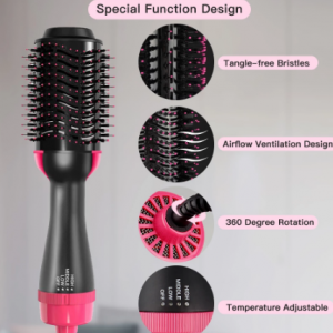 Hair Dryer Brush 4 In 1 Multifunction Negative Ion Electric Hair Dryer And Volumizer Hair Straightener Curler Styling Tools discountshub