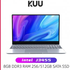 KUU A8S 15.6 inch Student Laptop 8GB RAM 128GB256GB SSD Notebook For intel J3455 Quad Core Ultrabook With Webcam Bluetooth WiFi discountshub