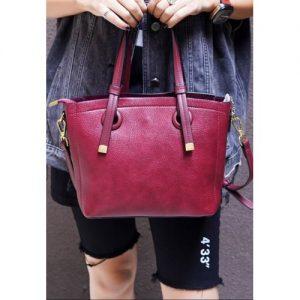 Ladies Fashion Tote Hand-bag - Wine discountshub