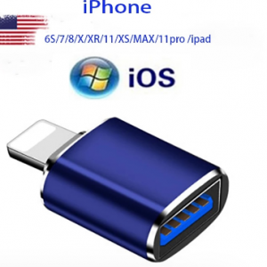 Lightning Apple adapter usb pen drive adapter is suitable for pendrive Apple mobile phone /6S/7/8/X/XR/11/XS/MAX/11pro/ipad discountshub