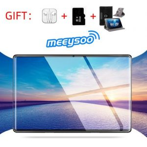 Meeysoo 2020 10.1 Inch Tablet PC 1280*800 IPS SIM Card 4G LTE FDD Wifi Android 9.0 Tablet Bluetooth WiFi(32TF+CASE+Earphone) discountshub