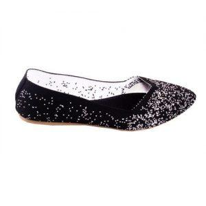 Meilisa Fancy Flat Female Shoe - Black discountshub