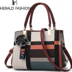 New Designer Plaid Women Shoulder Bag Handbag Female Stitching Wild Messenger Bag Brand Totes Female Crossbody Bag Handbags discountshub